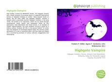 Bookcover of Highgate Vampire