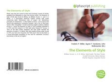 Bookcover of The Elements of Style