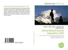 British Mount Everest Expedition 1922 kitap kapağı