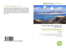 Bookcover of Invasion of Minorca, 1781