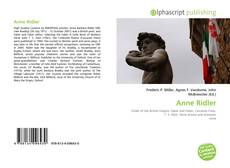 Bookcover of Anne Ridler