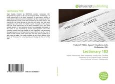 Lectionary 183 kitap kapağı