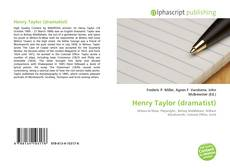 Bookcover of Henry Taylor (dramatist)