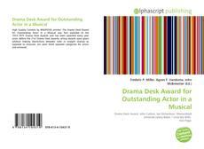 Portada del libro de Drama Desk Award for Outstanding Actor in a Musical