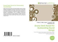 Portada del libro de Drama Desk Award for Outstanding Sound Design