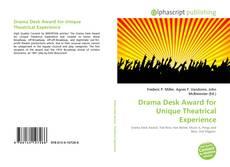 Portada del libro de Drama Desk Award for Unique Theatrical Experience