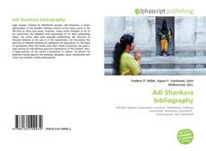 Bookcover of Adi Shankara bibliography