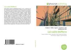 Couverture de Loi-cadre Defferre