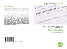 Bookcover of Louis Zukofsky