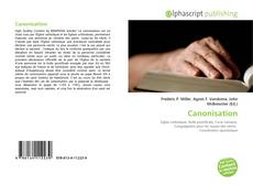 Bookcover of Canonisation