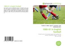 Buchcover von 1980–81 in English football