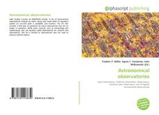 Bookcover of Astronomical observatories