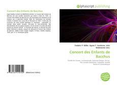 Copertina di Concert des Enfants de Bacchus