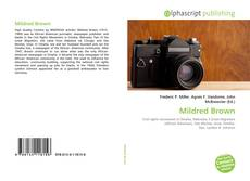 Bookcover of Mildred Brown