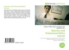 Copertina di Business and Professional Ethics Journal