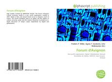 Bookcover of Forum d'Avignon