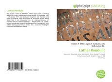Bookcover of Lothar Rendulic