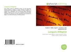 Couverture de Langues d'Algérie