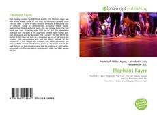 Bookcover of Elephant Fayre