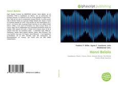 Bookcover of Henri Belolo