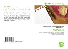 Bookcover of Ars Poetica