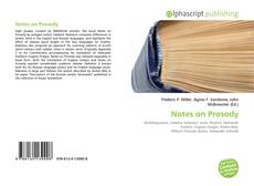 Bookcover of Notes on Prosody