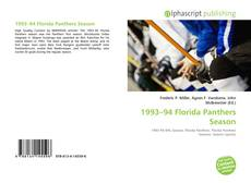 Couverture de 1993–94 Florida Panthers Season