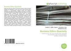 Обложка Business Ethics Quarterly