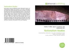 Capa do livro de Nationalism Studies