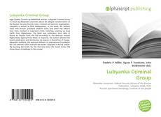 Couverture de Lubyanka Criminal Group