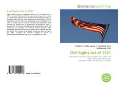 Civil Rights Act of 1991 kitap kapağı
