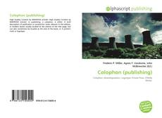 Bookcover of Colophon (publishing)