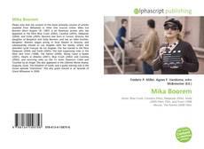 Borítókép a  Mika Boorem - hoz