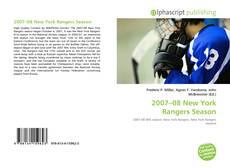 Bookcover of 2007–08 New York Rangers Season