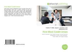 Bookcover of First West Credit Union