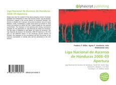 Portada del libro de Liga Nacional de Ascenso de Honduras 2008–09 Apertura