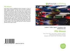 Capa do livro de Pile Weave