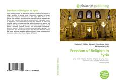 Bookcover of Freedom of Religion in Syria
