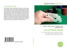 Bookcover of List of Poker Hands