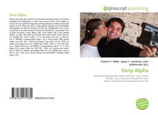 Bookcover of Sony Alpha