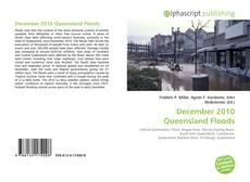 Bookcover of December 2010 Queensland Floods