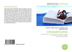Bookcover of A Farewell to Arms