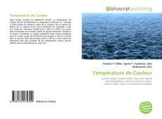 Température de Couleur kitap kapağı