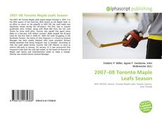 Bookcover of 2007–08 Toronto Maple Leafs Season