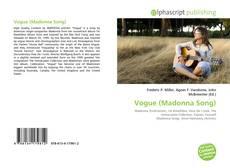Vogue (Madonna Song)的封面