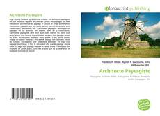 Couverture de Architecte Paysagiste