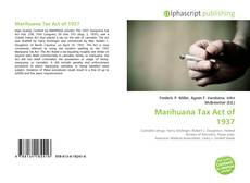 Buchcover von Marihuana Tax Act of 1937