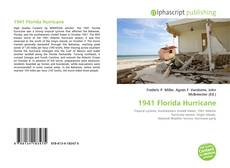 1941 Florida Hurricane kitap kapağı