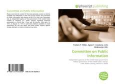 Copertina di Committee on Public Information