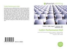 Обложка Cullen Performance Hall